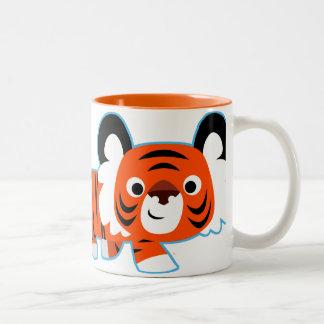Cute Cartoon Tiger on The Prowl Mug