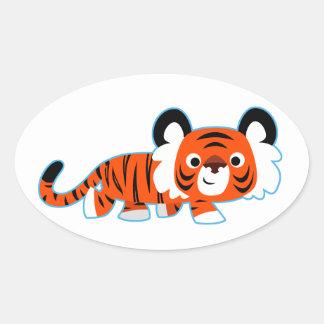 Cute Cartoon Tiger on The Prowl Sticker