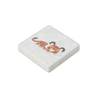 Cute Cartoon Tiger on The Prowl Stone Magnet