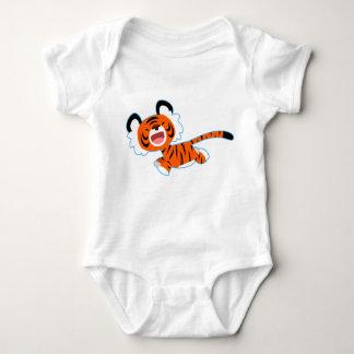 Cute Cartoon Tiger On The Run Baby Apparel Baby Bodysuit