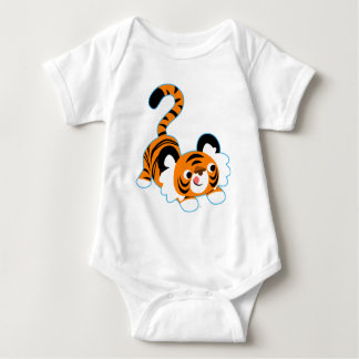 Cute Cartoon Tiger Ready To Play Baby Apparel T-shirt