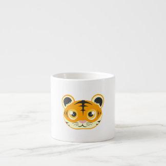 Cute Cartoon Tiger 6 Oz Ceramic Espresso Cup