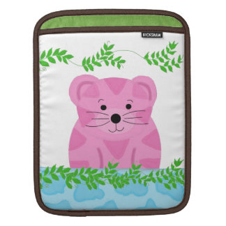 Cute Cartoon Tiger with Vines Sleeve For iPads