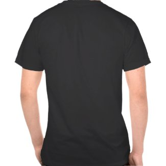 Cute Cartoon Tigers Mandala (Blue) T-Shirt (Back) shirt