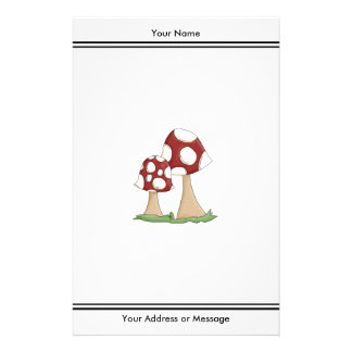 Cute Cartoon Toadstools Mushrooms Design Stationery