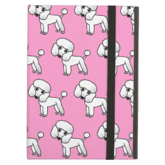 Cute Cartoon Toy / Miniature White Poodle Repeat Cover For iPad Air