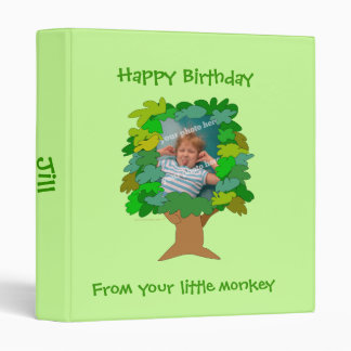 Cute Cartoon Tree Little Monkey Custom Photo Binder