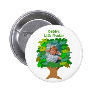Cute Cartoon Tree Little Monkey Custom Photo Pin