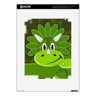Cute Cartoon Triceratops Dinosaur iPad 3 Decal