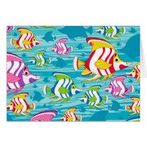 Cute Cartoon Tropical Fish Pattern