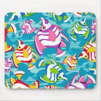 Cute Cartoon Tropical Fish Pattern Mouse Pad