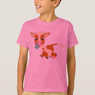Cute Cartoon Trotting Cow Children T-Shirt