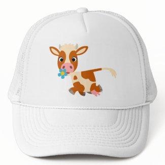 Cute Cartoon Trotting Cow Hat hat