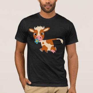 Cute Cartoon Trotting Cow T-Shirt