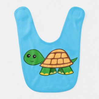 Cute Cartoon Turtle Baby Bib