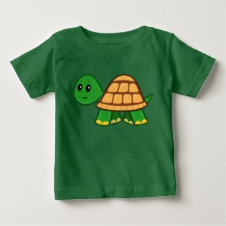 Cute Cartoon Turtle Baby T-Shirt