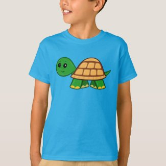 Cute Cartoon Turtle Boy's T-Shirt