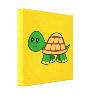 Cute Cartoon Turtle Canvas Print