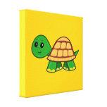 Cute Cartoon Turtle Canvas Print