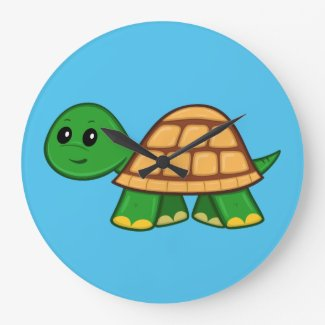 Cute Cartoon Turtle Clock