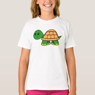 Cute Cartoon Turtle Girl's T-Shirt