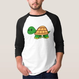 Cute Cartoon Turtle Men's 3/4 Sleeve T-Shirt