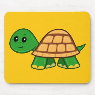 Cute Cartoon Turtle Mouse Pad
