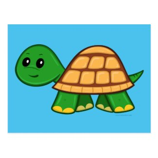 Cute Cartoon Turtle Postcard
