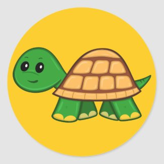 Cute Cartoon Turtle Sticker