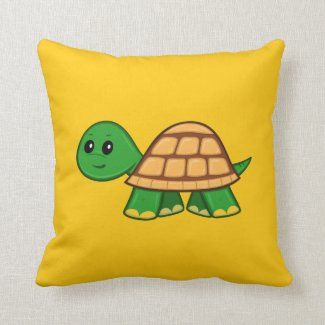 Cute Cartoon Turtle Throw Pillow