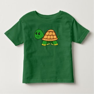 Cute Cartoon Turtle Toddler T-Shirt