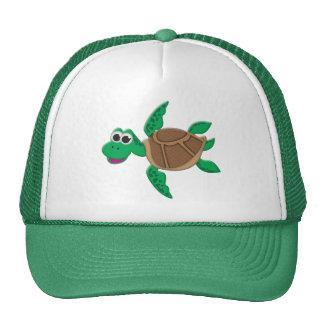 Cute Cartoon Turtle Trucker Hat