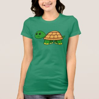 Cute Cartoon Turtle Women's T-Shirt