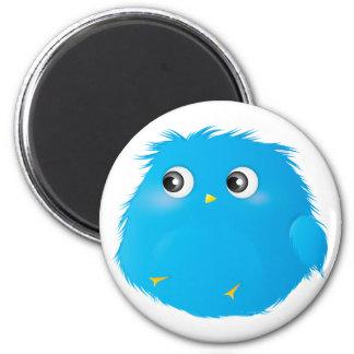 Cute Cartoon Twittie Bird 2 Inch Round Magnet