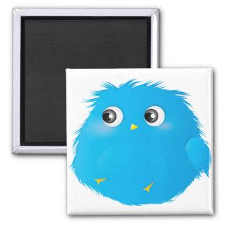 Cute Cartoon Twittie Bird 2 Inch Square Magnet