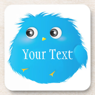 Cute Cartoon Twittie Bird Beverage Coaster