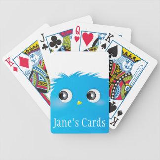 Cute Cartoon Twittie Bird Bicycle Playing Cards