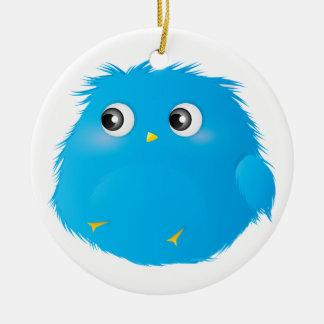 Cute Cartoon Twittie Bird Ceramic Ornament