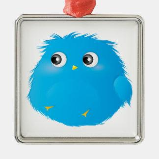 Cute Cartoon Twittie Bird Metal Ornament