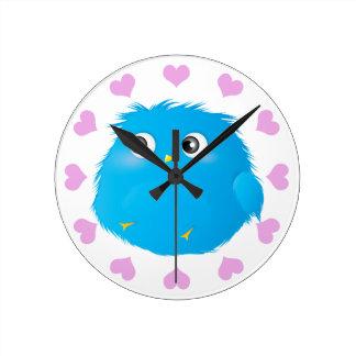 Cute Cartoon Twittie Bird Round Clock