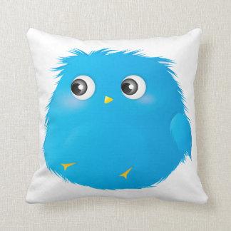 Cute Cartoon Twittie Bird Throw Pillow