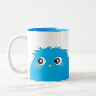 Cute Cartoon Twittie Bird Two-Tone Coffee Mug