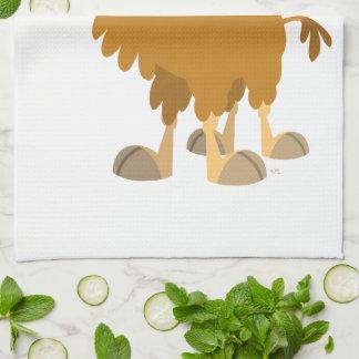 Cute Cartoon Two-Humped Camel Kitchen Towel