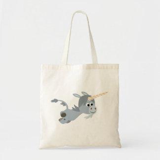 Cute Cartoon Unicorn In A Hurry Bag