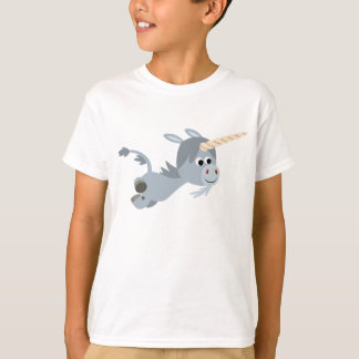 Cute Cartoon Unicorn In A Hurry Children T-Shirt