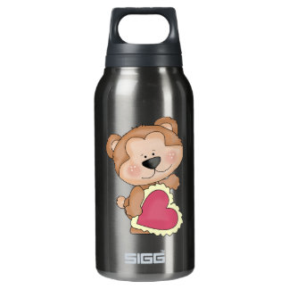 Cute Cartoon Valentine Bear Show Your Love Insulated Water Bottle