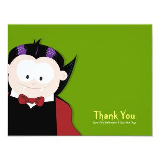 Cute Cartoon Vampire Flat Thank You Card