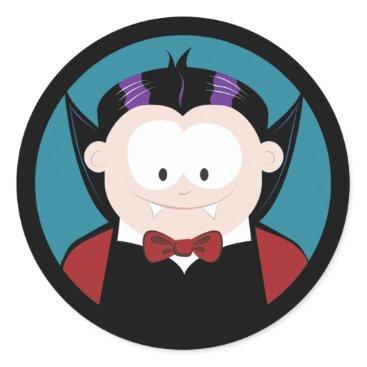 Halloween Themed Cute Cartoon Vampire Halloween Stickers