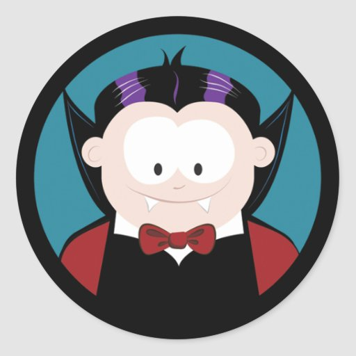 Cute Cartoon Vampire Halloween Stickers