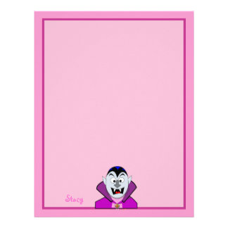 Cute Cartoon Vampire Hallowen Letterhead